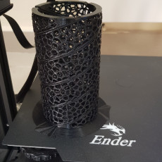 Picture of print of Voronoi curtain holder spiral