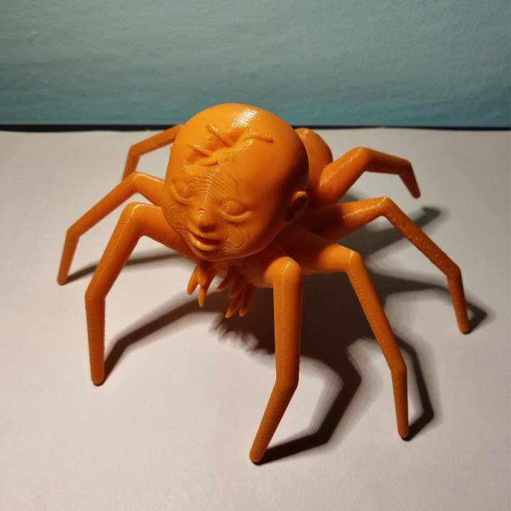 Baby with the body of a spider