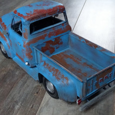 Picture of print of Ford F100 1955 - 1:10 scale model kit