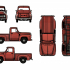 Ford F100 1955 - 1:10 scale model kit image