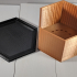 Hexagon Planter With Drainage and Dish image