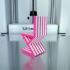 Striped Chair - 3D Printed Doll Furniture image
