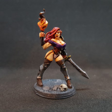Picture of print of Elena - Fighters Guild Beauty (Fantasy Pin-Up)