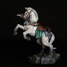 Picture of print of Morgana on Warhorse - Fighters Guild Hero on Warhorse
