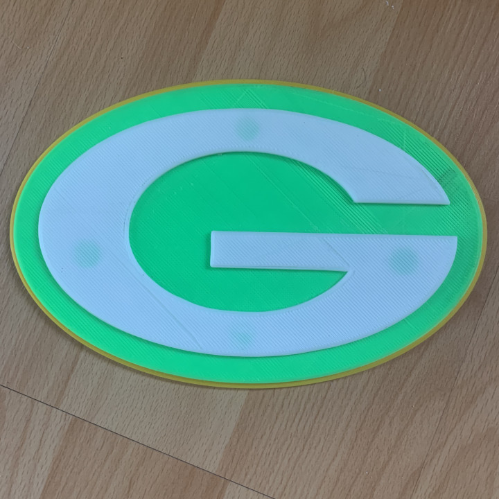 3d Printable Green Bay Packers Logo By Blake Ojera