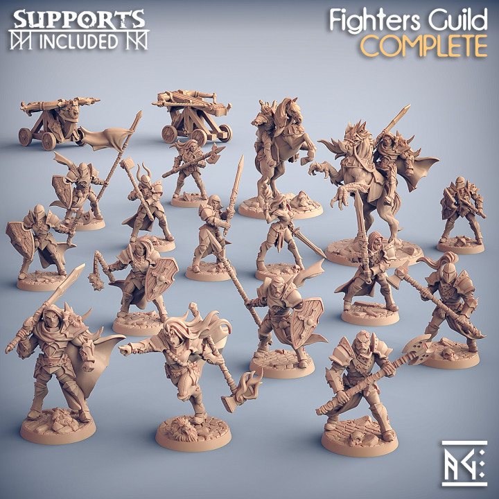 COMPLETE Human Fighters Guild (presupported)