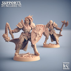 Human Fighters Guild - C (Lady) Modular