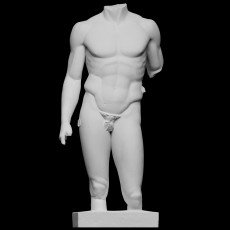 Torso of a nude young man, Spear-bearer or Doryphoros, The Pourtales Torso