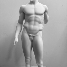 Picture of print of Torso of a nude young man, Spear-bearer or Doryphoros, The Pourtales Torso