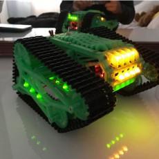 Tank T300 3D Con Oruga Caterpilar Arduino