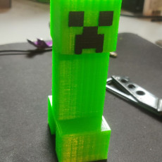 Picture of print of Minecraft creeper