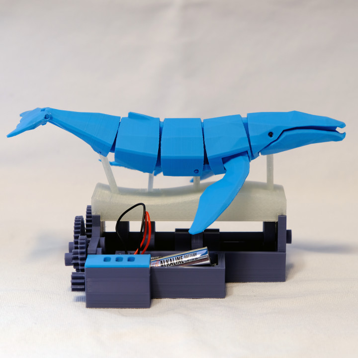 Save the Whales (DC Motor Powered Kinetic Whales)