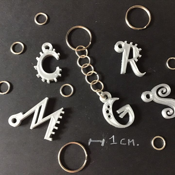 3D Letters for keychain and more