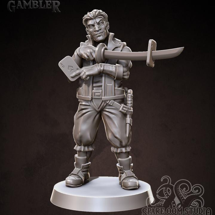 Gambler 32mm Hero Miniature