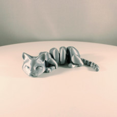 Picture of print of Lazy Cat