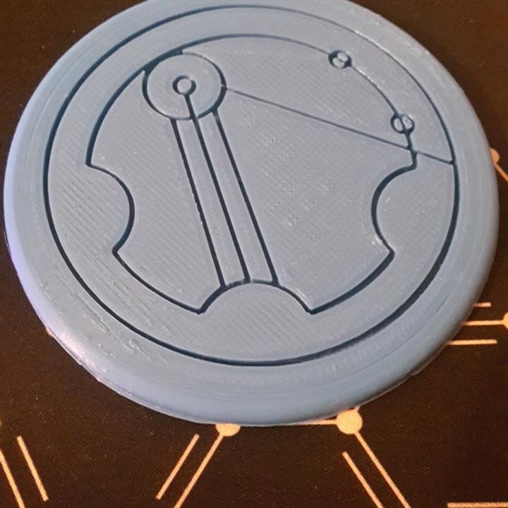 Circular Gallifreyan Coaster