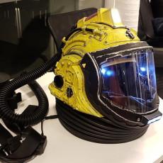 Doctor Who Orange Space suit helmet build