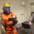 Doctor Who Orange Space suit helmet build image