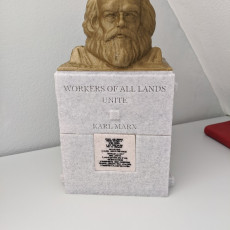 Picture of print of Karl Marx