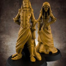Double figure (inspired by Salar Jung Museum s  Double Statue ) - 32mm miniature