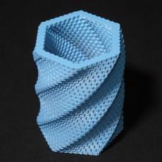 Fractal Hexagon Cylinder Cup