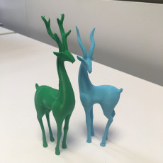 Picture of print of Deer couple decorative objects