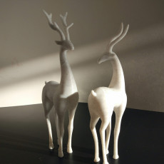 Deer couple decorative objects