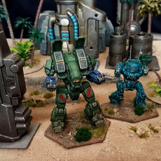 "Picture of print of ARC-1A Archer ""42 Bird Salute"" for Battletech"