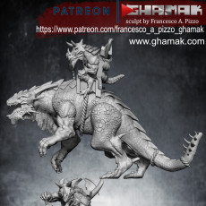 Carnosaur with rider