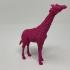 Giraffe Love print image