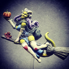 Picture of print of Tiefling witch