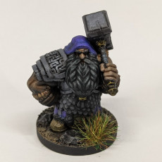 Picture of print of Dwarf Guardian Miniature - pre-supported