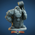 Dwarf Guardian Miniature - pre-supported image