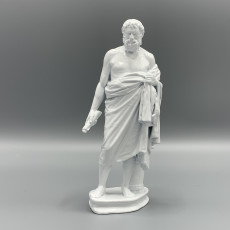 Picture of print of Statue of an unknown Cynic philosopher, Menippus of Gadara?