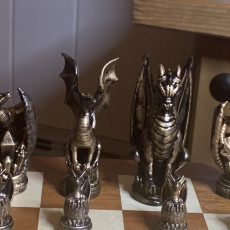 Picture of print of Dragon Chess! Dragon Overlord (The King)
