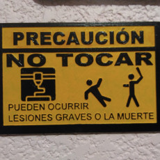 Picture of print of Dont touch sign (spanish)