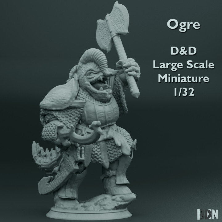 Ogre - D&D - Large Scale Miniature - 1/32