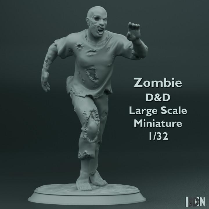 Zombie  - D&D - Large Scale Miniature - 1/32