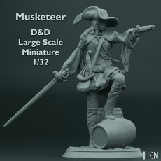 Musketeer - D&D - Large Scale Miniature - 1/32