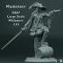 Musketeer - D&D - Large Scale Miniature - 1/32 image