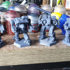 """Picture of print of Direwolf Prime, AKA """"Daishi"""" for Battletech"""