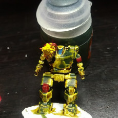 Picture of print of HBK-4G Hunchback for Battletech