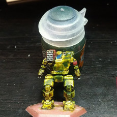 Picture of print of HBK-4P Hunchback for Battletech