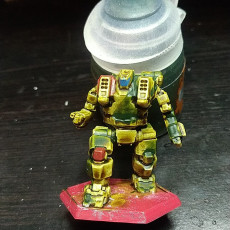 Picture of print of HBK-4SP Hunchback for Battletech