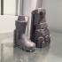 Men's Military Boots, STL File for printer 3d image