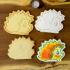Deer, Moose & Hedgehog trio Winter Cookie Cutters with fondant press image