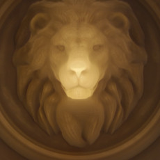 Lion - 3D optical illusion
