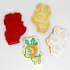 Deer Winter Cookie Cutter with fondant press image