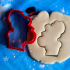 Moose Winter Cookie Cutter with fondant press image