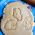 Hedgehog Winter Cookie Cutter with fondant press image